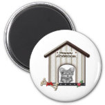 Cute Christmas Yorkie Dog Gifts Refrigerator Magnets