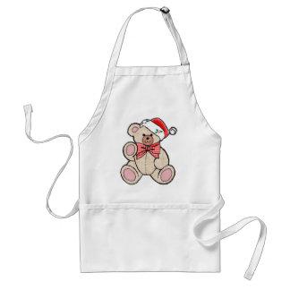 Cute Christmasy Bear Adult Apron