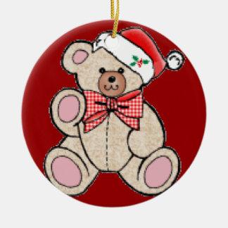 Cute Christmasy Bear Christmas Ornament