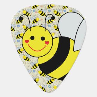 Cute Chubby Bumble Bee Guitar Pick