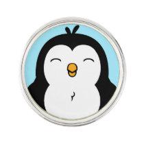 Cute Chubby Penguin Image Lapel Pin