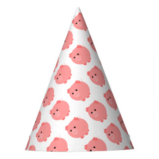 Cute Chubby Pig Party Hats
