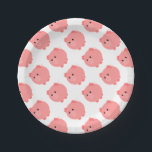 "Cute Chubby Pig Party Plates<br><div class=""desc"">If your little one likes pigs,  they will love Cute Chubby Pig party supplies.</div>"
