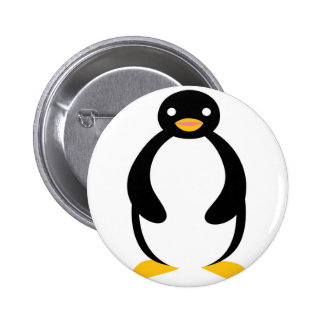 Cute chubby simple penguin 2 inch round button