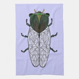 Cute Cicada Hand Towels