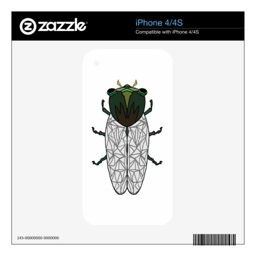 Cute Cicada iPhone 4S Skins