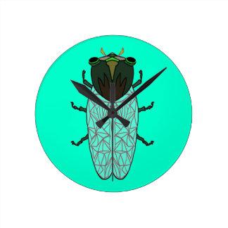 Cute Cicada Round Clock