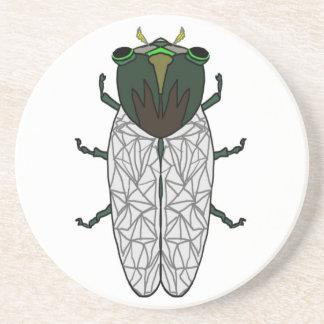 Cute Cicada Sandstone Coaster