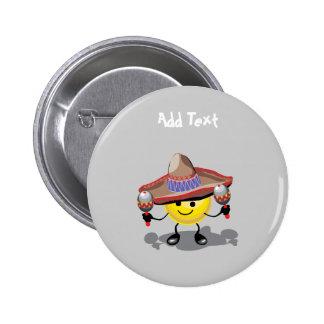 Cute Cinco De Mayo cartoon personalized 2 Inch Round Button