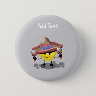 Cute Cinco De Mayo cartoon personalized Pinback Button
