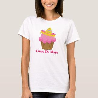 Cute Cinco De Mayo Cupcake Womens Tee shirt