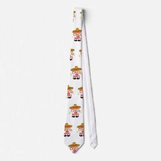 Cute Cinco de Mayo Mexican Holiday Celebration Neck Tie