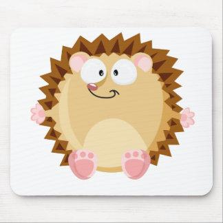 Cute circle hedgehog mouse pad