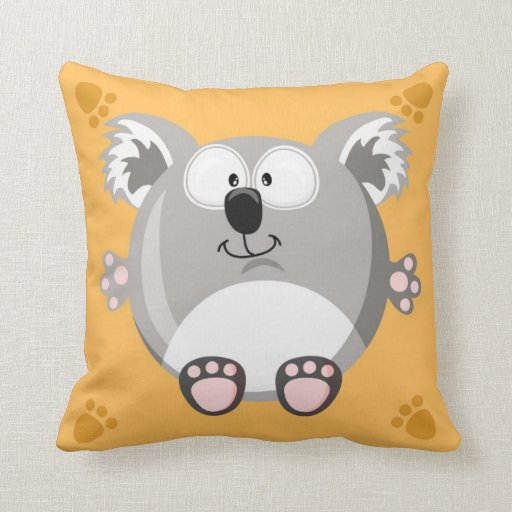 Cute circle koala bear pillows