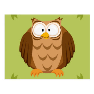 Cute circle owl post cards