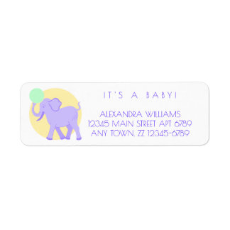 Cute Circus | Baby Adorable Unisex Personalized Label