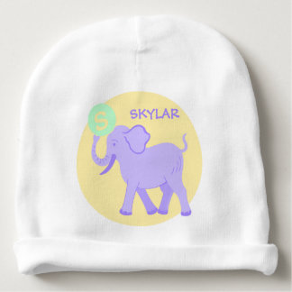 Cute Circus | Baby Boy Or Girl Elephant Monogram Baby Beanie