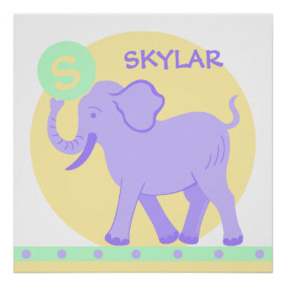 Cute Circus | Baby Nursery Personalize This Fun Poster