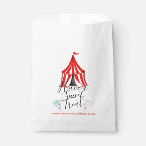Cute circus carnival kid party favor bag