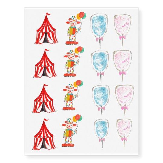 Cute circus carnival kid temporary tattoo   Zazzle.com
