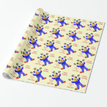 Cute Circus Clown Personalized Gift Wrapping Paper