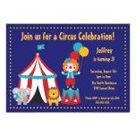 Cute Circus Kid's Birthday Invitation