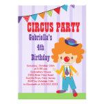CUTE Circus Kids Birthday Party Invitation