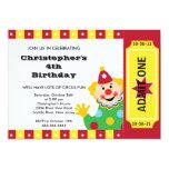 "CUTE Circus Kids Birthday Party Invitation 5"" X 7"" Invitation Card"