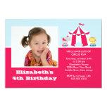 "CUTE Circus Kids Birthday Party Invitation PHOTO 5"" X 7"" Invitation Card"