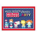 """Cute Circus Party Invitation 5"""" X 7"""" Invitation Card"""
