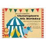 "CUTE Circus Tent Birthday Party Invitation 5"" X 7"" Invitation Card"