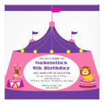 CUTE Circus Tent Kids Birthday Party Invitation