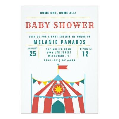 Cute circus theme boy / girl birthday party invite   Zazzle.com