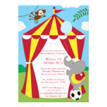 Cute circus theme boy / girl birthday party invite