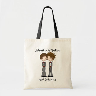 Cute Civil Partnership Two Grooms Tote Bag