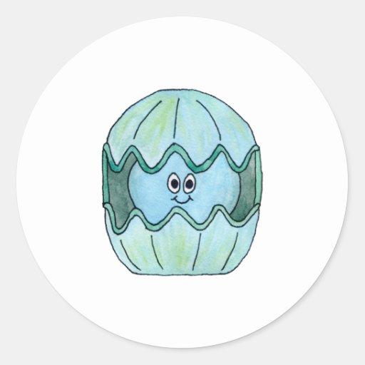 Cute Clam. Classic Round Sticker