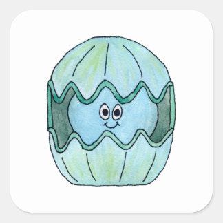 Cute Clam. Square Sticker