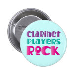Cute Clarinet Players Rock Music Gift Pinback Button