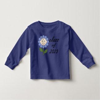 Cute Class of 2023 Blue Flower Toddler T-shirt