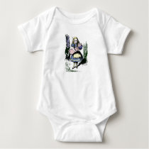 Cute Classic!  Alice in Wonderland with Baby Pig! Baby Bodysuit
