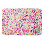 Cute classic colorful flowers pattern bathroom mat