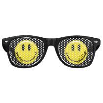 Cute Classic Yellow Smiling Face Retro Sunglasses