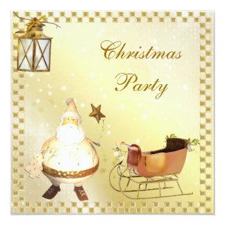 Cute & Classy Santa & SleighChristmas Party Invitations