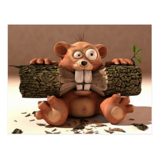 Cute Claymation Beaver Postcard
