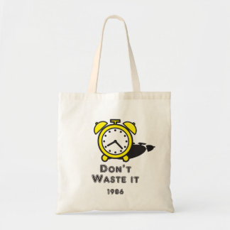 Cute Clock Cartoon Message Bag