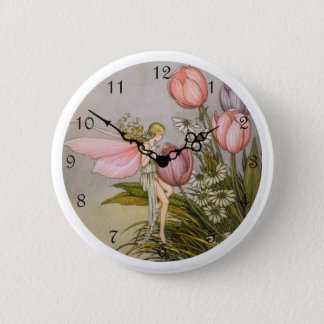 Cute Clock Style Kid Button - 'Tooth Fairy'
