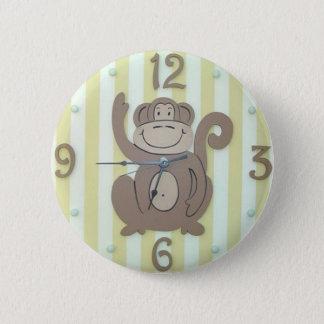 "Cute Clock Style Kids Button - ""My Monkey"""