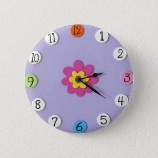 "Cute Clock Style Kids Buttons - ""Daisy"""