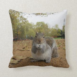 Cute Close-Up Squirrel Throw Cushion Throw Pillow