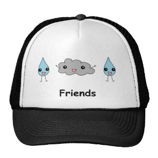 Cute Cloud and Raindrop Friends Hats